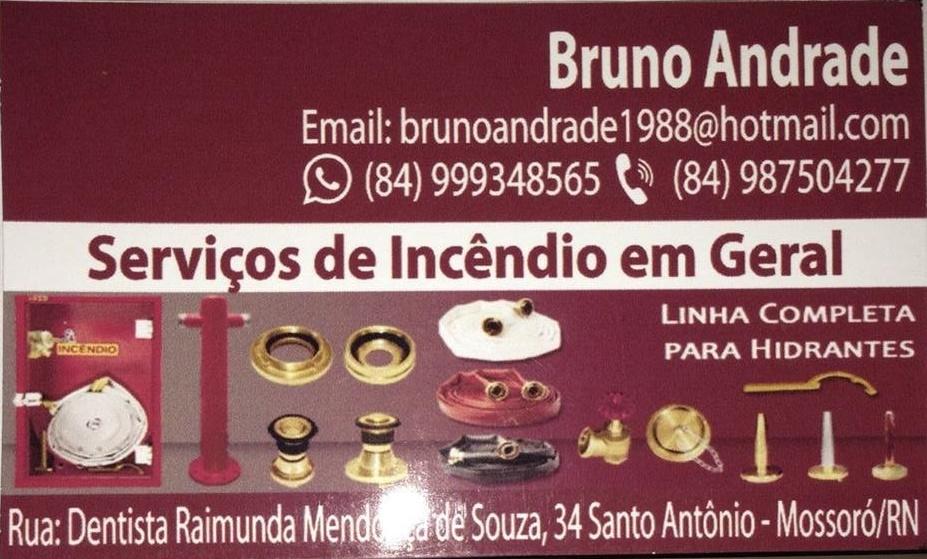 BRUNO ANDRADE - SERVIÇOS DE INCÊNDIO EM GERAL EM MOSSORÓ E REGIÃO