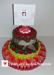 TARTA DE CHUCHES Y CHOCOLATE PARA COMUNION