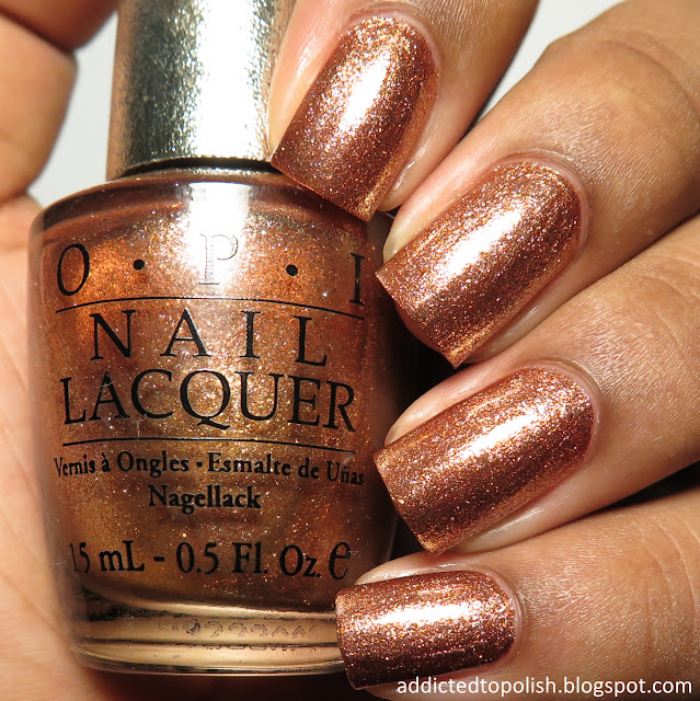 opi ds glow bronze gold copper nail polish