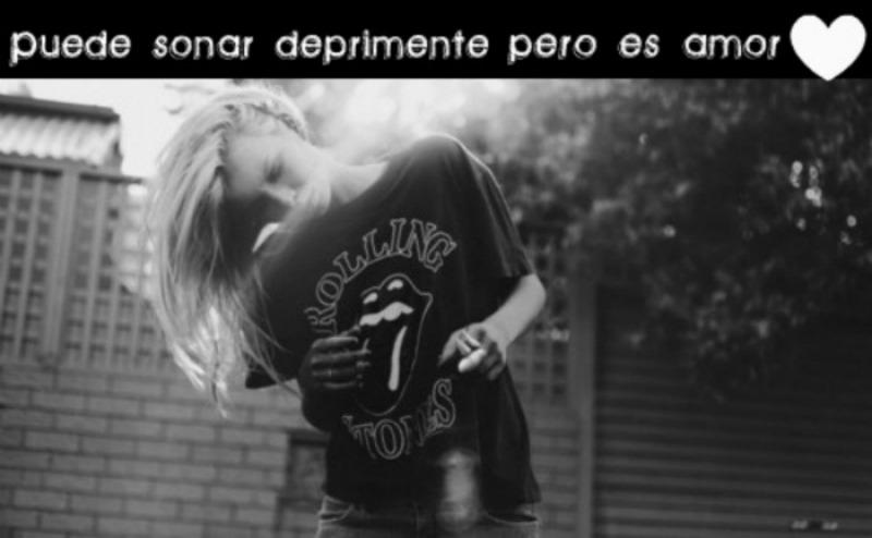 ! Puede sonar deprimente pero es amor♥
