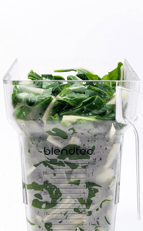 Swiss chard like spinach in blender Blendtec