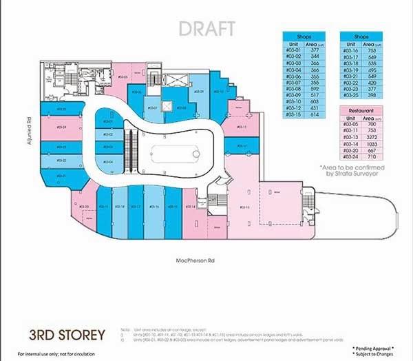 Macpherson Mall 3rd Storey Floor Plan