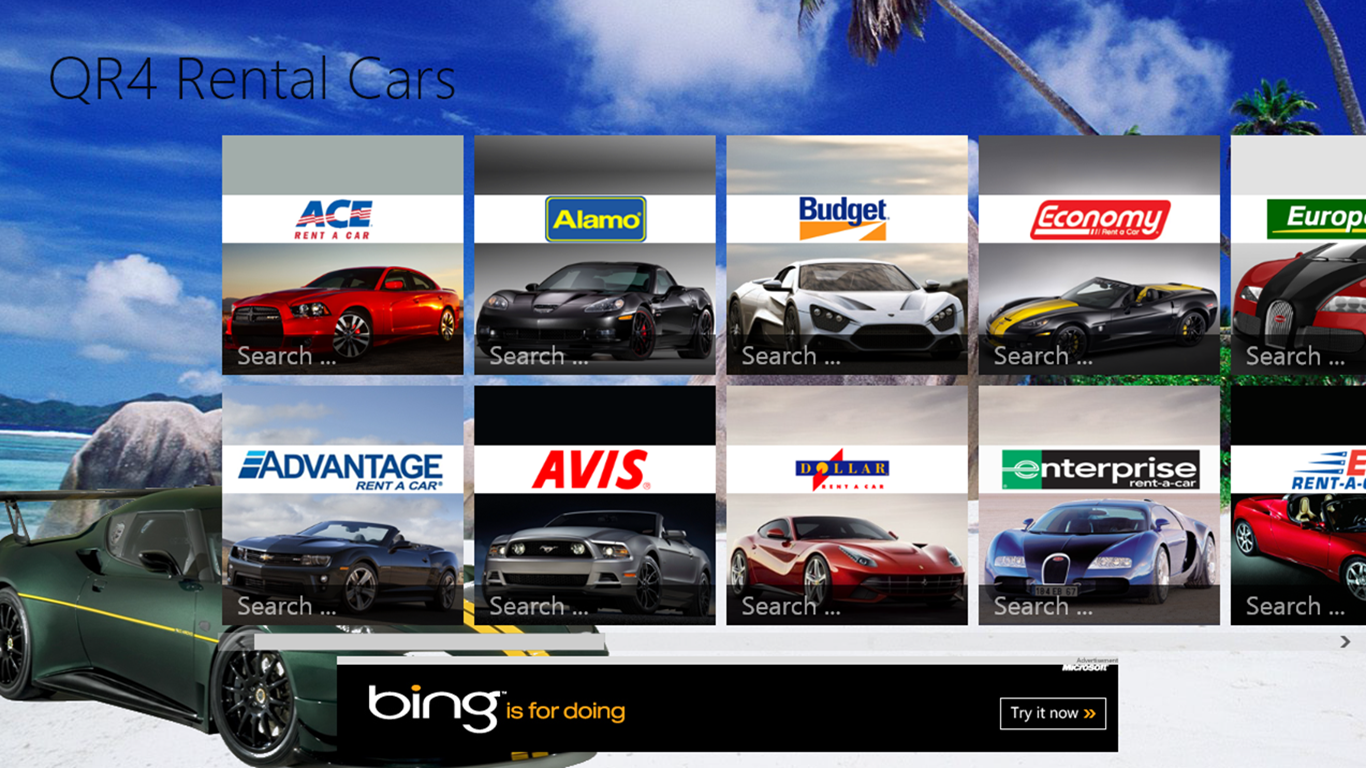 All rental car companies list 16