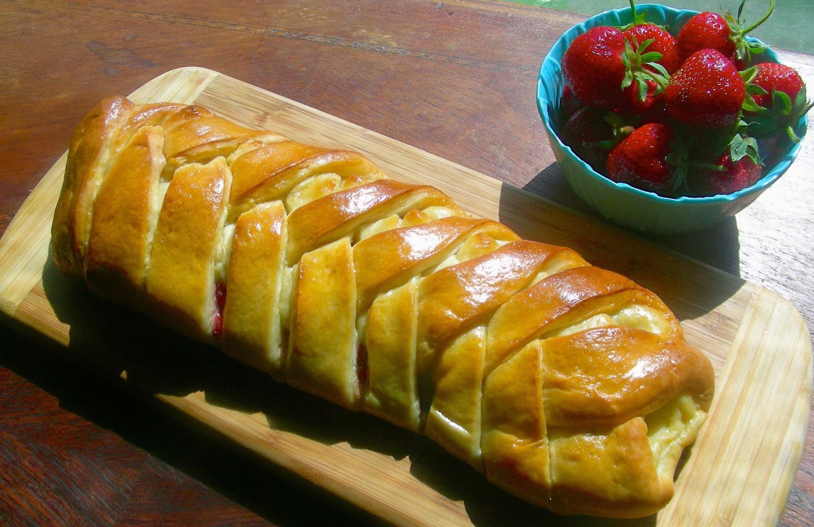 Braided Strawberry Cheese Bread Recipes — Dishmaps