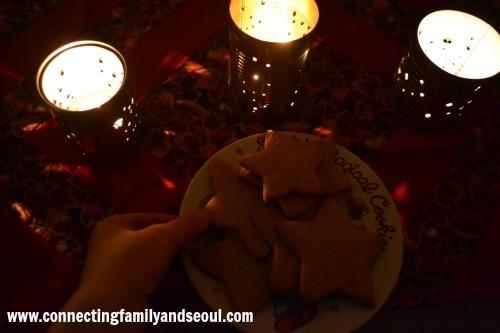 Lanterns, star cookies