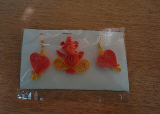 Earrings, arts, crafts, quilling