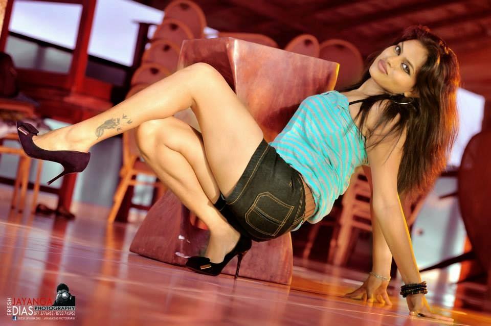 Thanuja Jayasinghe denim shorts