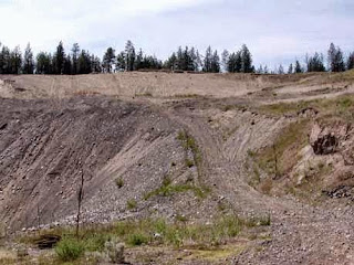 Gravel pit in Villanueva Alberta