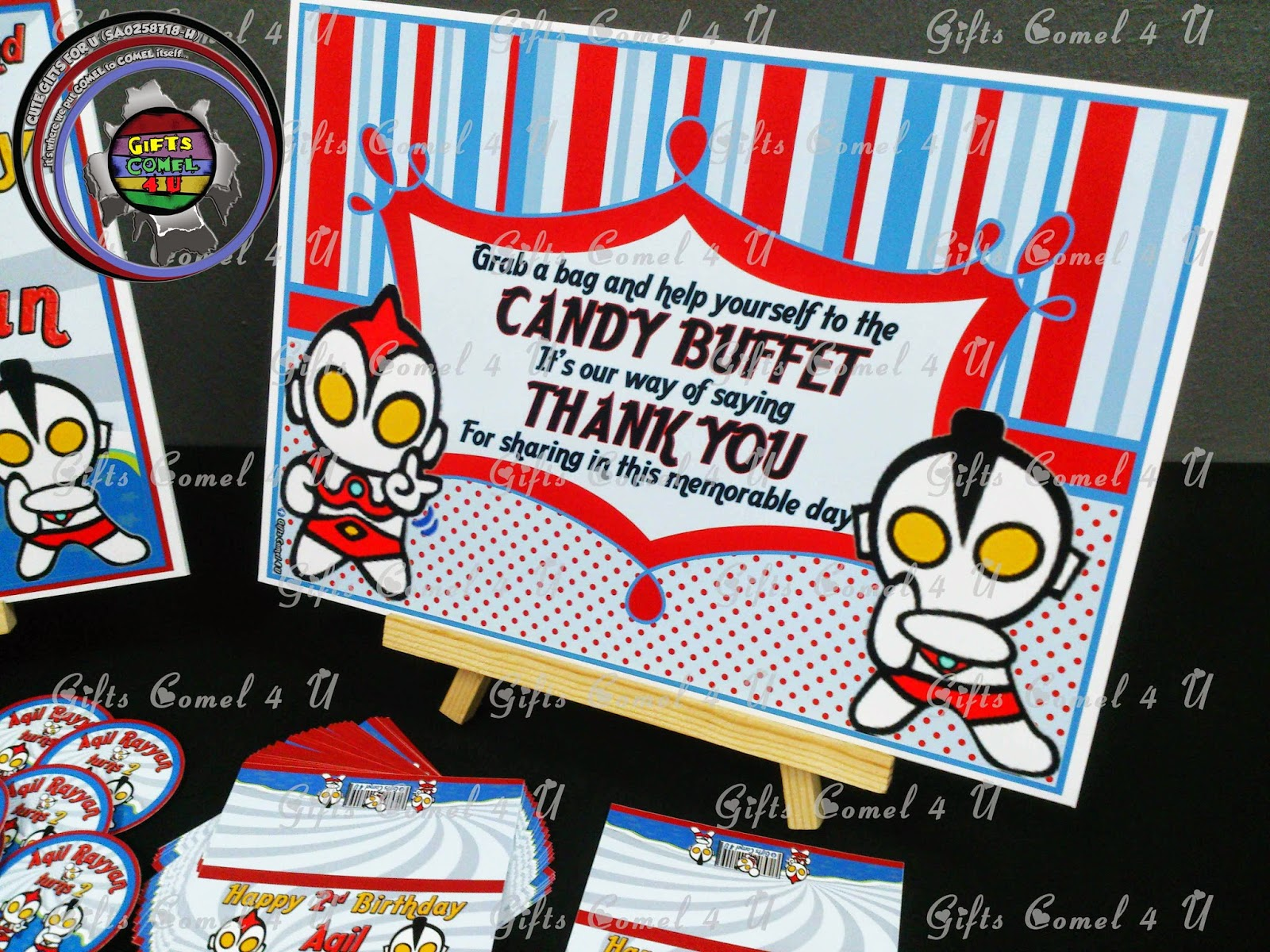 Gifts Comel 4 U Ordered by Madam Diba Baby Ultraman redblue
