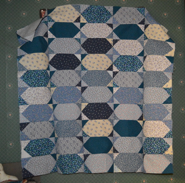 Baby Quilt - Blue Lozenges