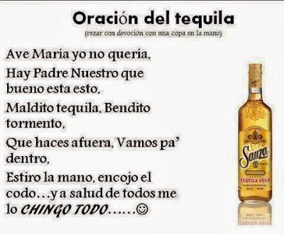 imágenes divertidas Oración del Tequila