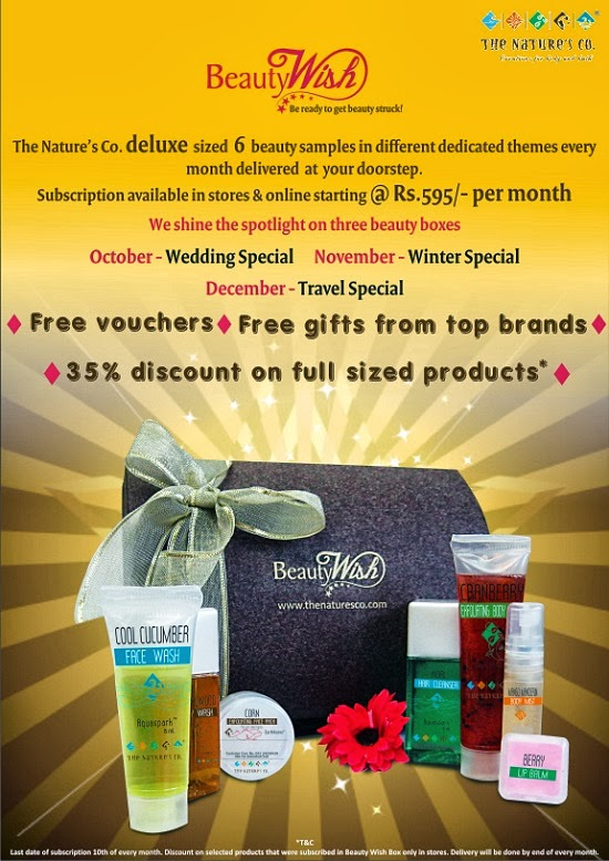 The Nature's Co.:Beauty Wish Box, beauty box, monthly subscriptions, beauty, natural organic products, discount vouchers