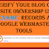 How to verify your blog or website ownership using CName records with Google webmaster
