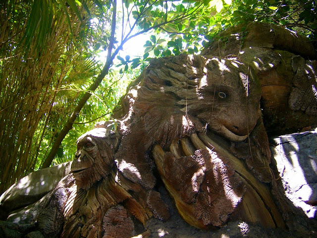 Tree of Life carvings - Animal Kingdom, Disney World, Florida