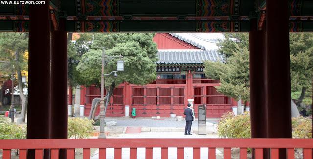 Santuario chino Dongmyo de Seúl en Corea del Sur