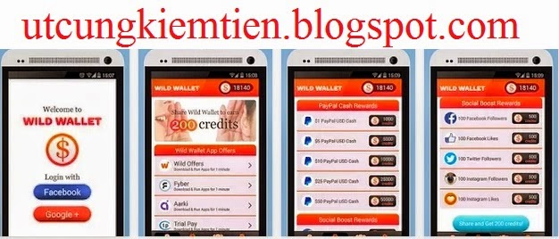 Wild Wallet Kiếm tiền trên Android