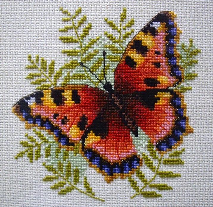 Бабочки Схемы вышивки крестом: только бабочки 66