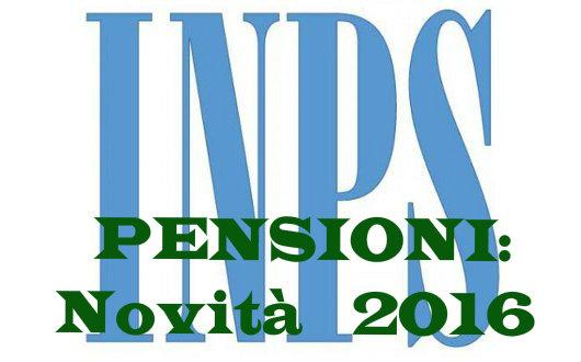 Riforma Pensioni 2016