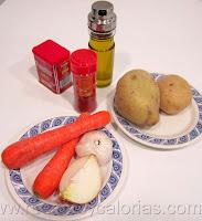 Cocido de patatas y zanahoria