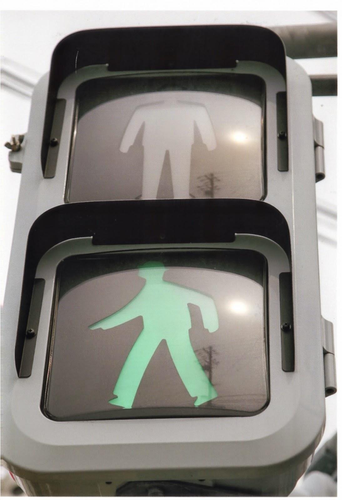歩行者信号の画像