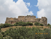 Fortress of Mivtzar Nimrod, built 1229 to protect Damascas from The Crusaders, Golan Heights-Israel