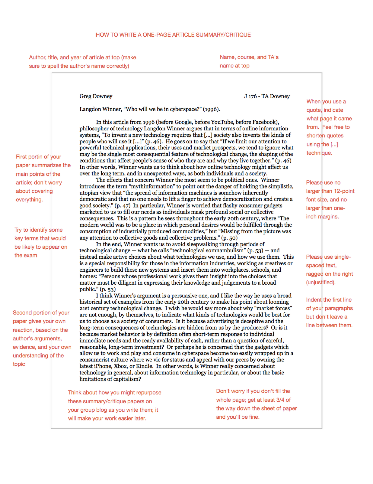 Article Summary Example Article Summary/critique