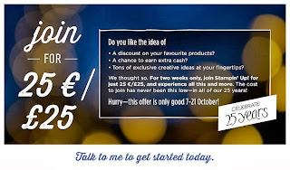 Join Stampin' Up! here for £25 until 21 October 2013