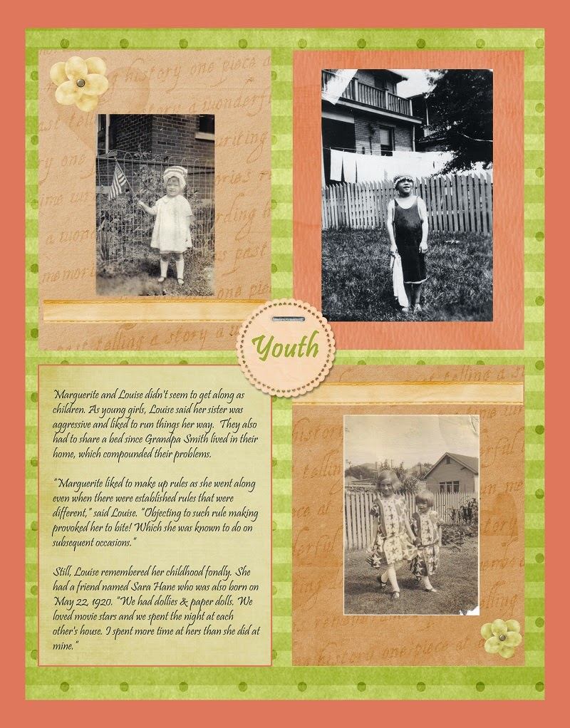 Scrapbook Layout with Sepia & Black & White Photos
