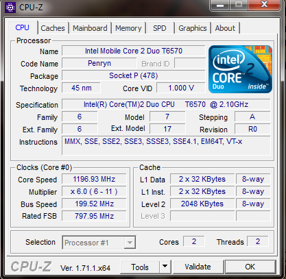 Download CPU-Z screenshot