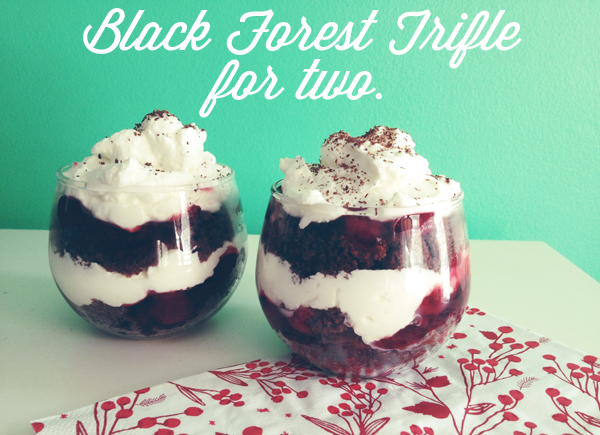 Oh So Lovely Vintage: Black forest trifle for two.