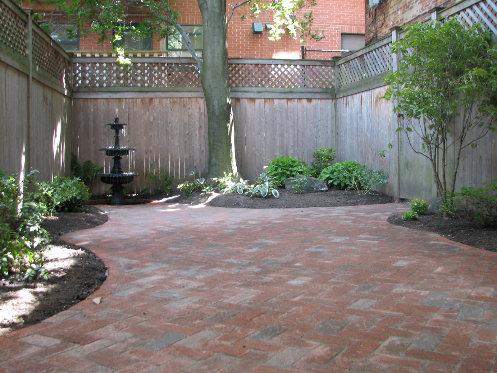 wikworks inc boston courtyard landscape design project On courtyard designs with pavers