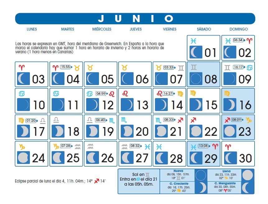 La magia de agata calendario lunar junio 2013 for Calendario lunar junio