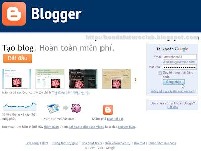 Tạo blog Blogger