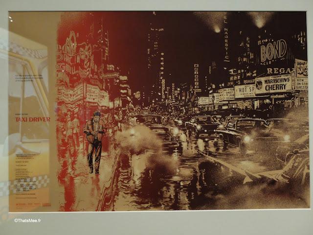 affiche taxi driver film expo scorsese  cinématèque française paris bercy