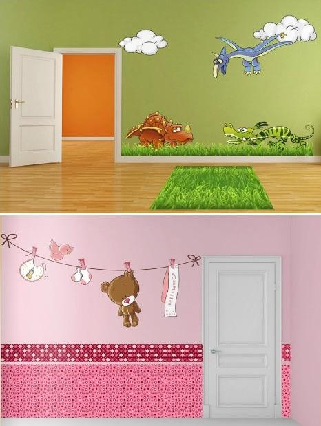 Dormitorios infantiles recamaras para bebes y ni os for Pegatinas para decorar habitaciones
