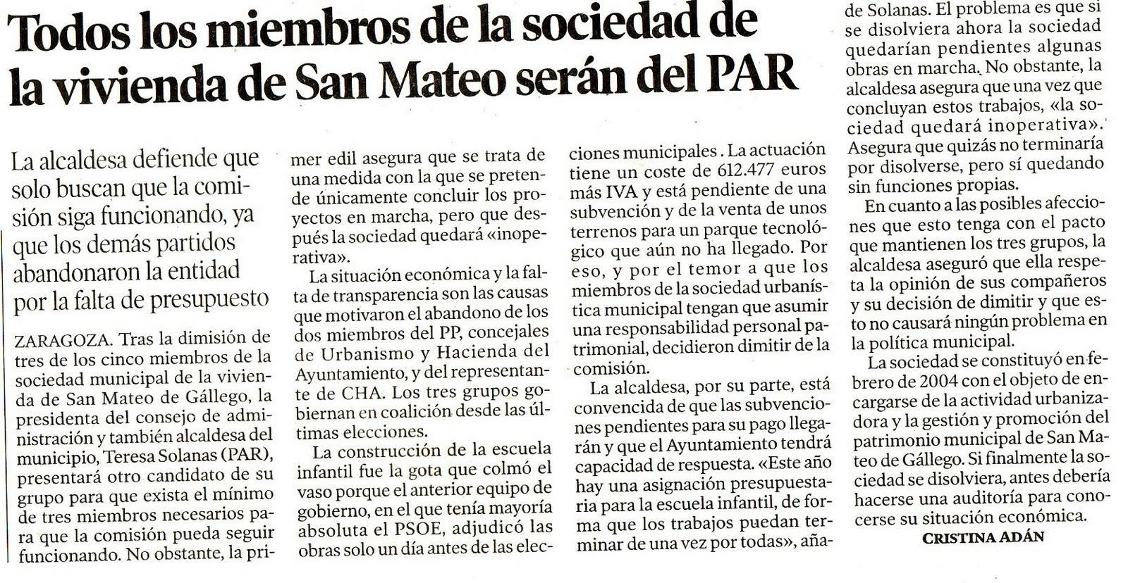 El blog de san mateo de g llego heraldo de arag n 26 - El tiempo en san mateo de gallego ...