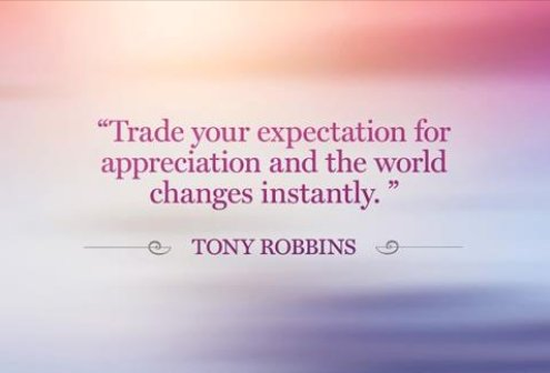 Tony Robbins, expectation, quotes, saying, phrase, managing expectations,