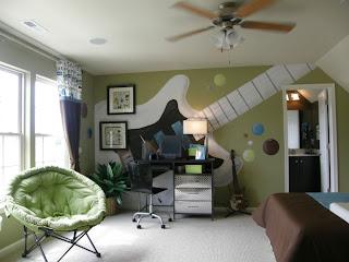 habitación temática música