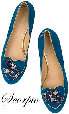 Charlotte Olympia Scorpio Suede Flats Cosmic Collection