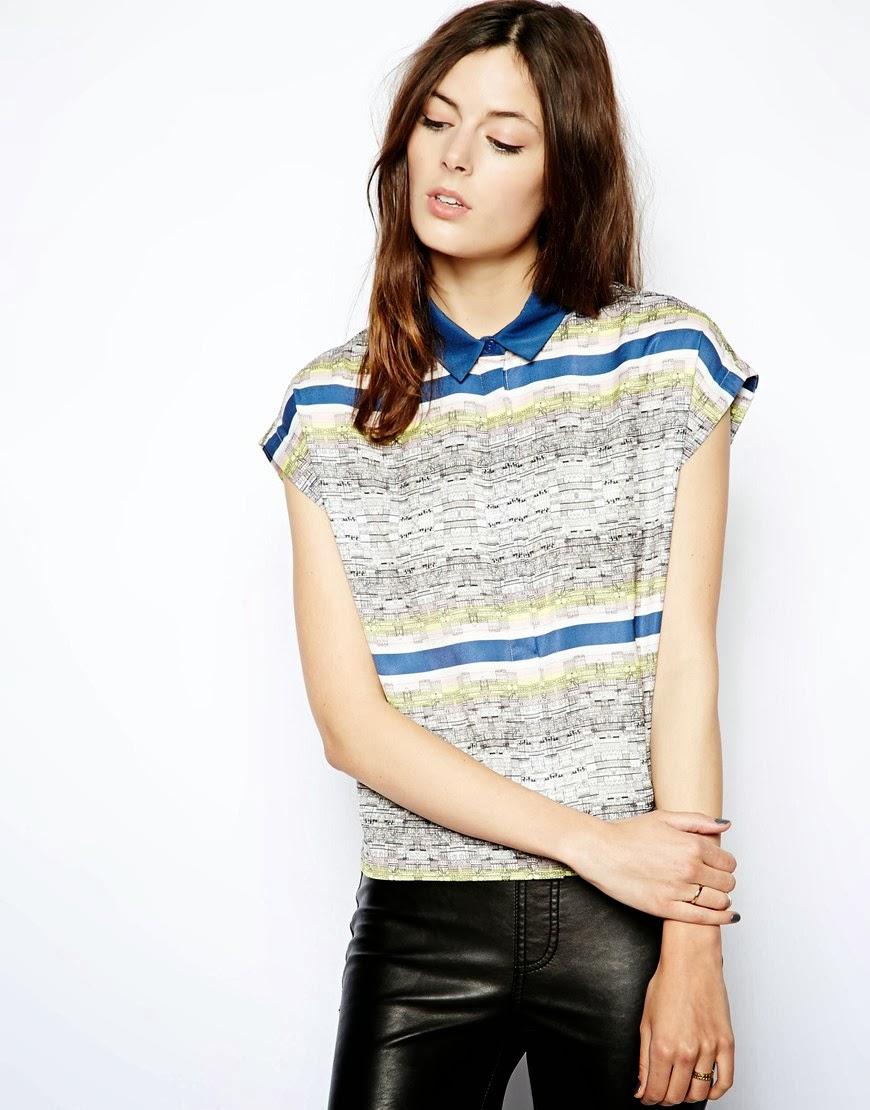 asos printed blouse