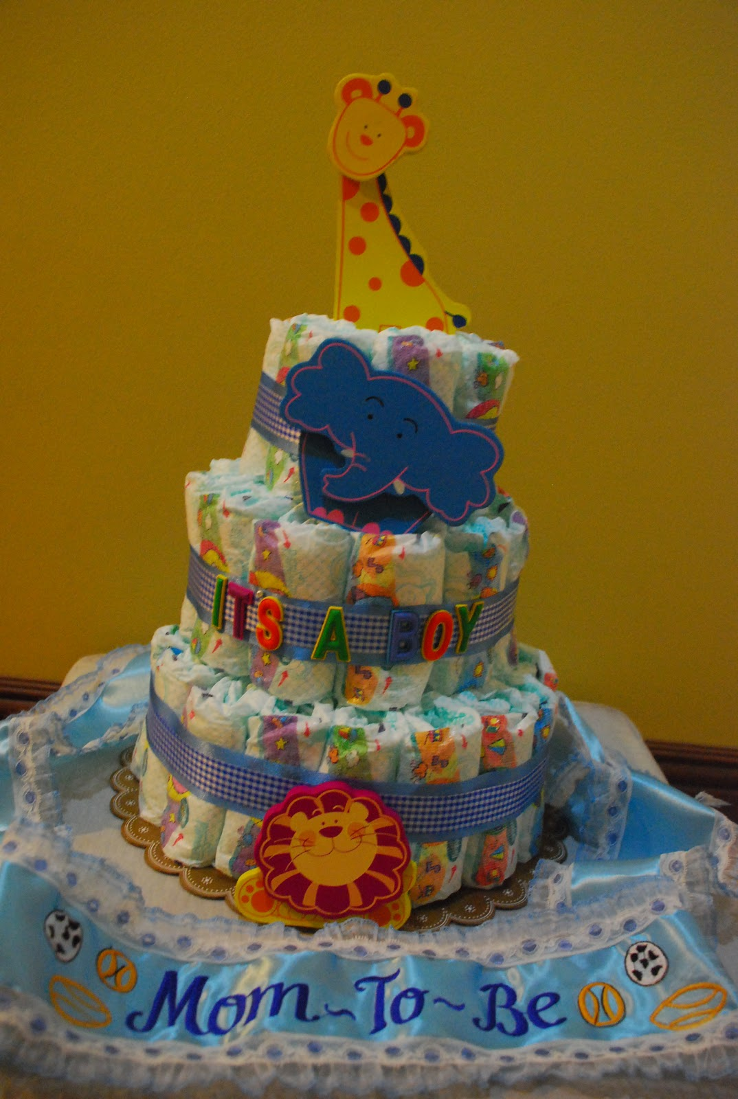 myfashionetsetera my homemade diaper cake and baby shower sash