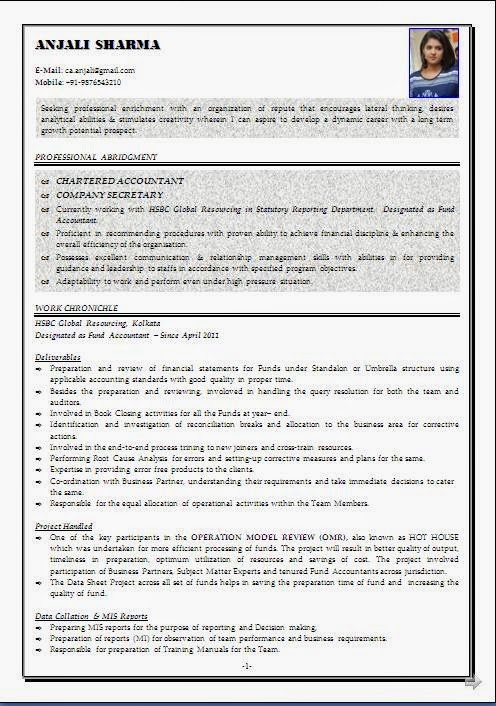 sle resume format articleship sle resume