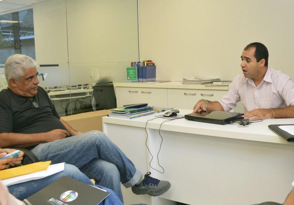 Mario Silva, administrador do Pedrão, e Edmarcos Silva, gerente comercial da InterTv