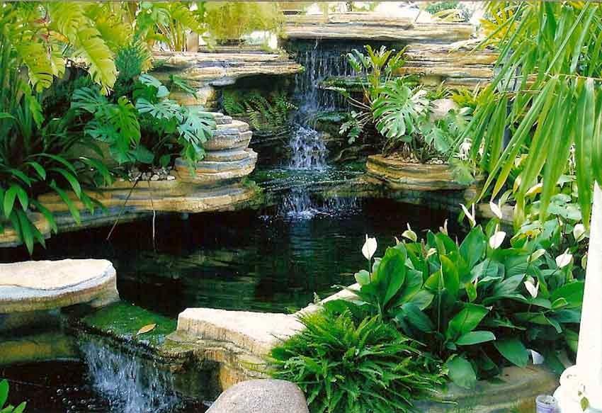 Hiasan Taman -Lanskap Kolam Air Terjun | Edisi Akhir Zaman