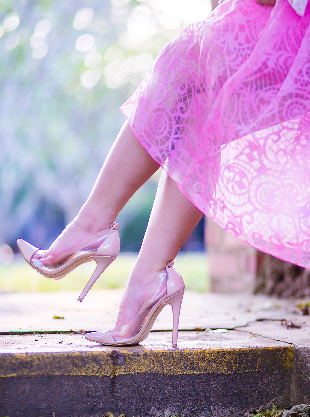 Crystal Phuong- Singapore Fashion Blog- Aldo PVC Pointy Pumps