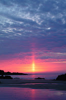 light pillar tiang cahaya di langit