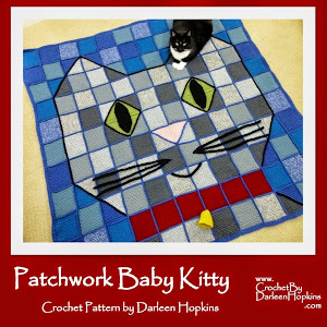 Patchwork Baby Kitty Throw Blanket