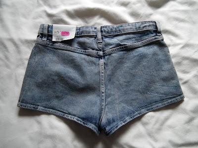 Sammi Jackson - Topshop Denim Sequin Shorts