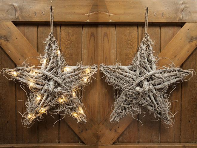 Decoracion Rustica Navide?a ~ Una hermosa guirnalda en forma de estrella hecha con ra?ces de