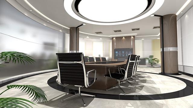 Ruang Rapat Melingkar Minimalis Modern